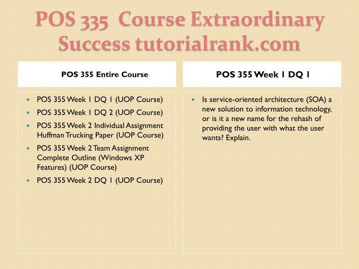 Pos 335 course extraordinary success tutorialrank com1