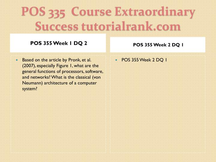 Pos 335 course extraordinary success tutorialrank com2