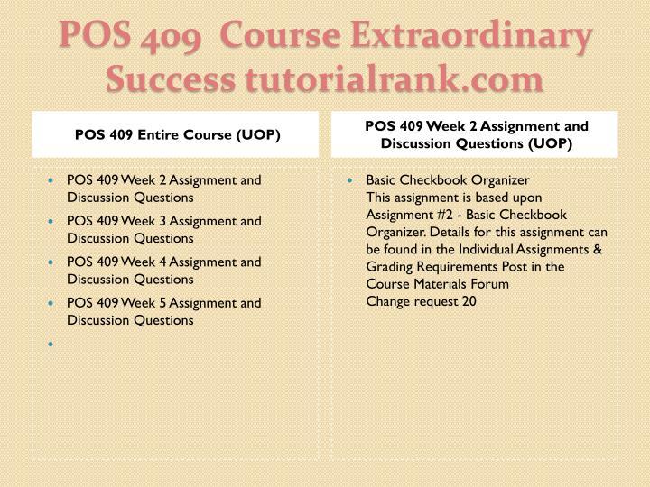 Pos 409 course extraordinary success tutorialrank com1