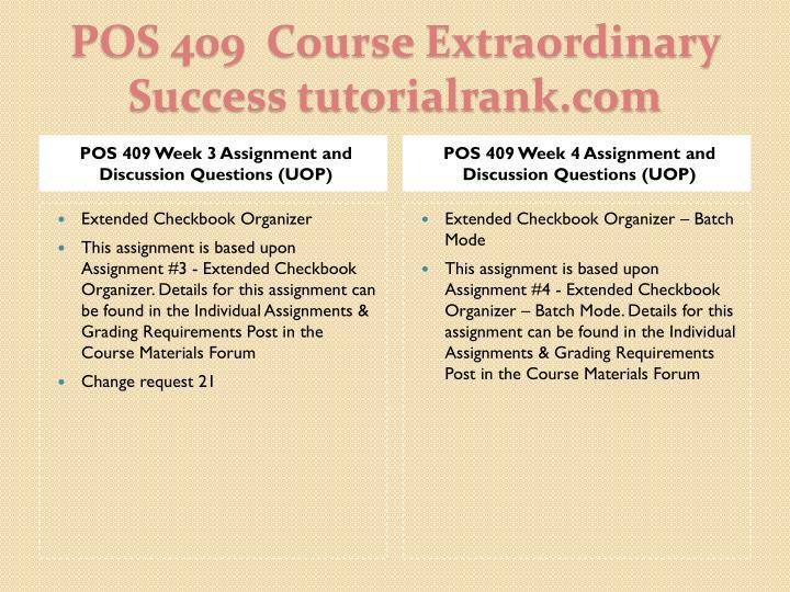 Pos 409 course extraordinary success tutorialrank com2