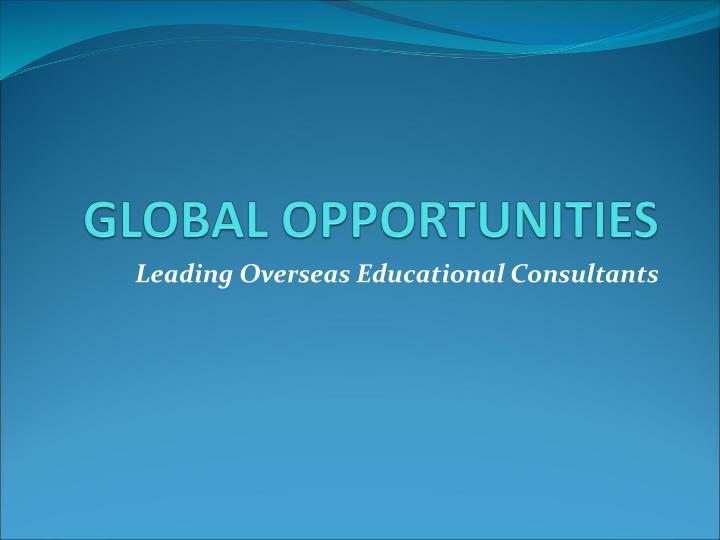 Leading Overseas Educational Consultants