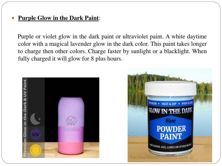 Purple Glow in the Dark Paint