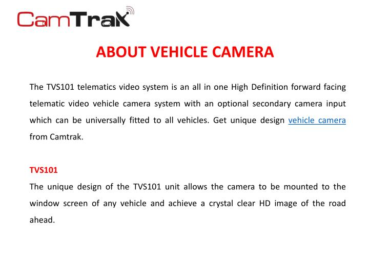About vehicle camera