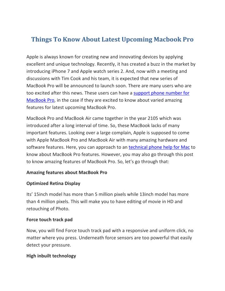 Things To Know About Latest Upcoming Macbook Pro