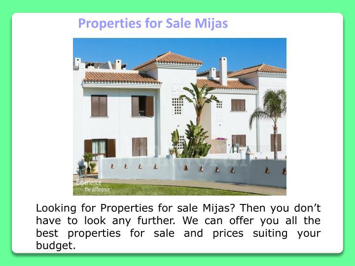 Properties for Sale Mijas