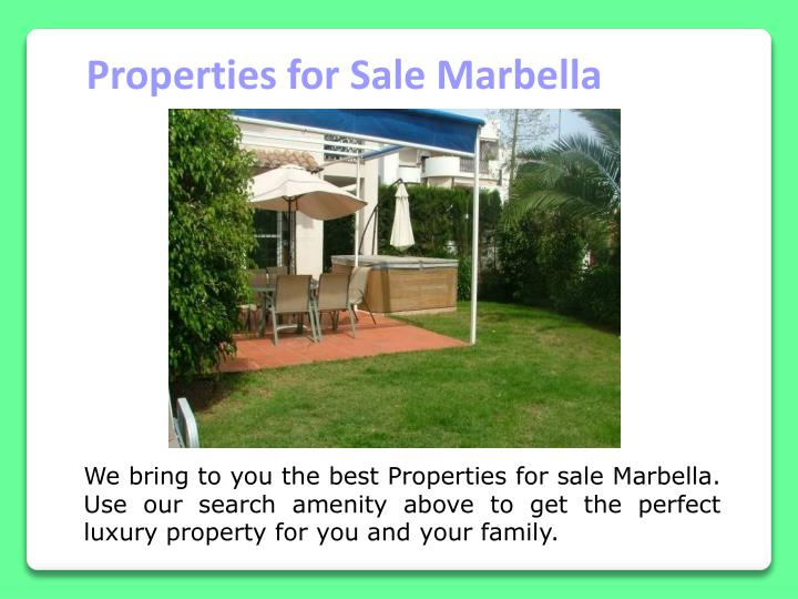 Properties for Sale Marbella
