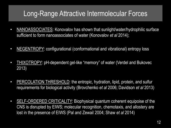 Long-Range Attractive Intermolecular Forces
