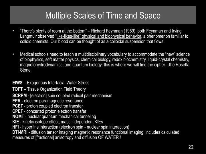 Multiple Scales of Time and Space