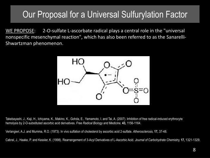 Our Proposal for a Universal Sulfurylation Factor