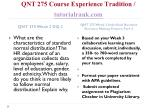 qnt 275 course experience tradition tutorialrank com7