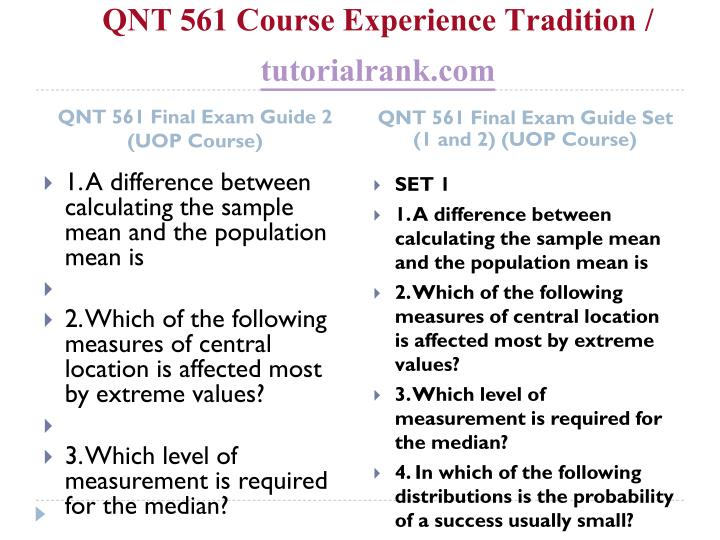 Qnt 561 course experience tradition tutorialrank com2