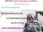 qrb 501 course experience tradition tutorialrank com20