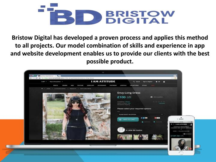 Bristow Digitalhas developed a proven process and applies this method to all projects.Our model ...