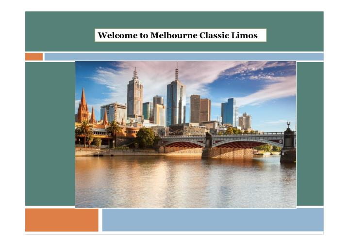 Welcome to Melbourne Classic Limos