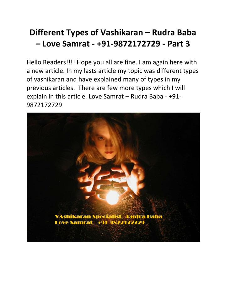 Different Types of Vashikaran