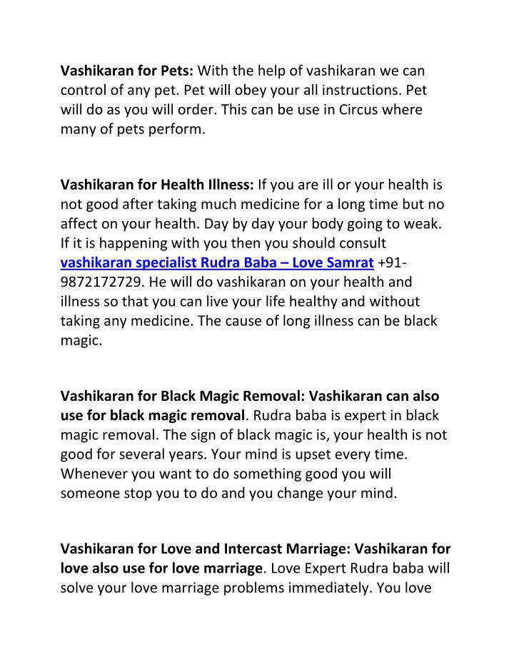Vashikaran for Pets: