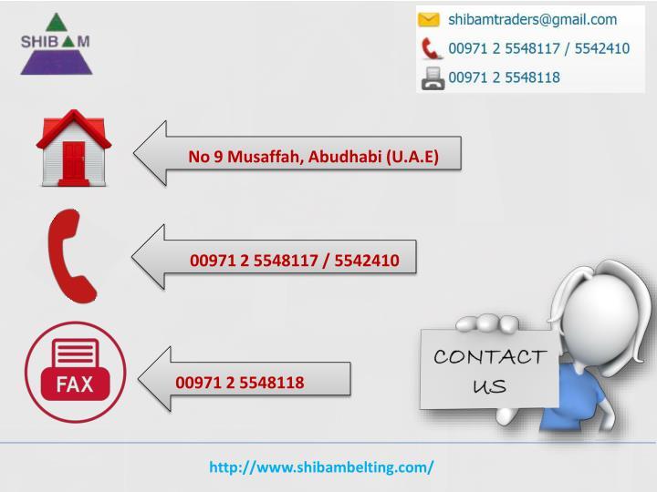 No 9 Musaffah, Abudhabi (U.A.E)