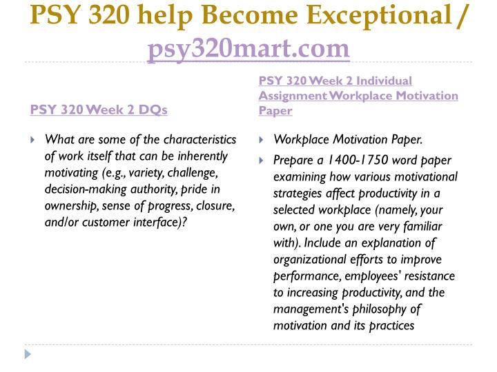 Psy 320 help become exceptional psy320mart com2