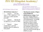 psy 325 slingshot academy psy325aid com4