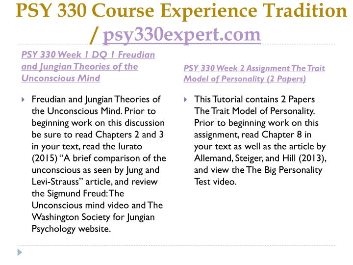 Psy 330 course experience tradition psy330expert com2