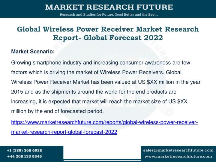 Global wireless power receiver market research report global forecast 2022
