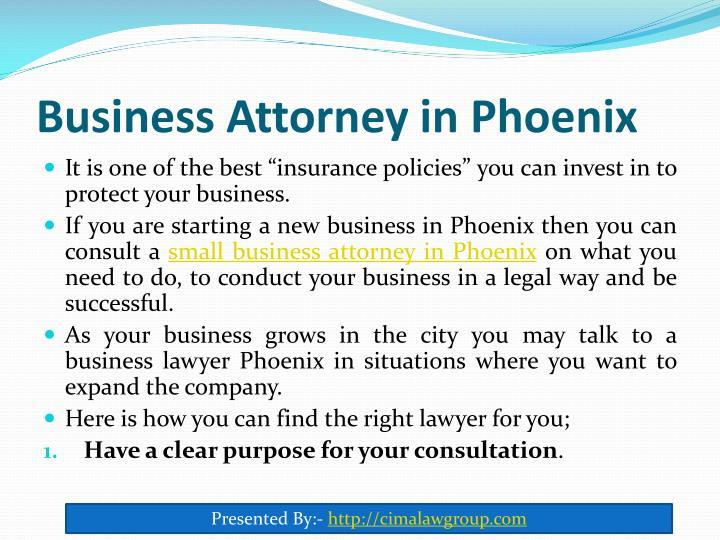 Business attorney in phoenix