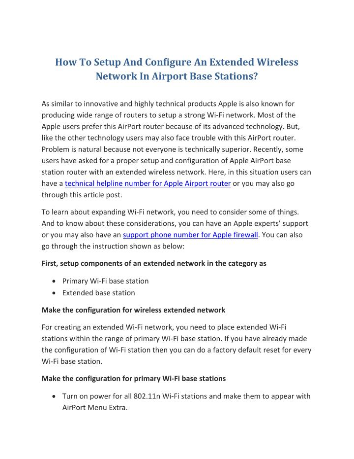 How To Setup And Configure An Extended Wireless