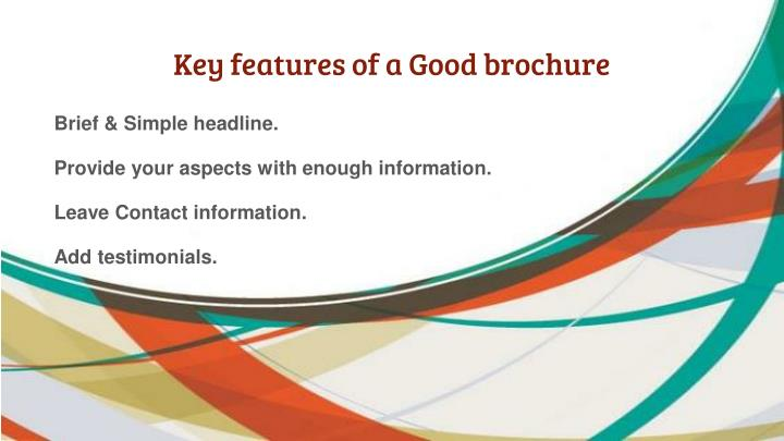 Key features of a Good brochure