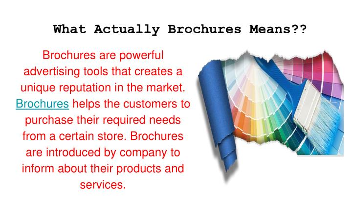 What actually brochures means