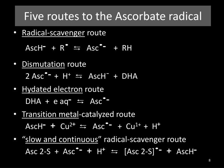 Five routes to the Ascorbate radical