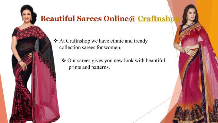 Beautiful Sarees Online@ Craftnshop