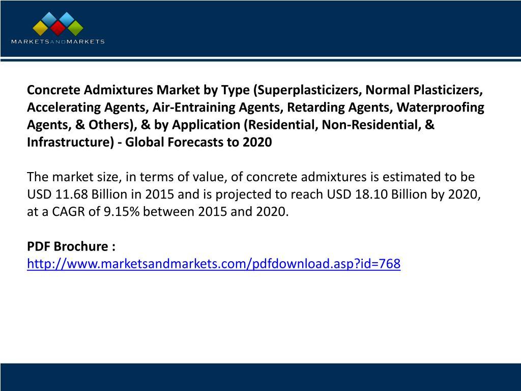 PPT - Concrete Admixtures Market worth 18 10 Billion USD by
