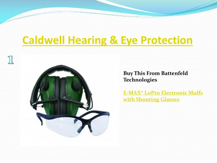 Caldwell hearing eye protection