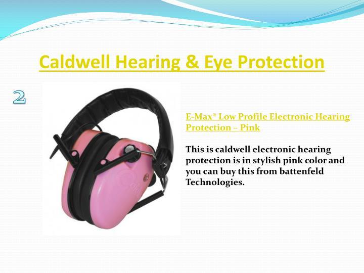 Caldwell hearing eye protection1