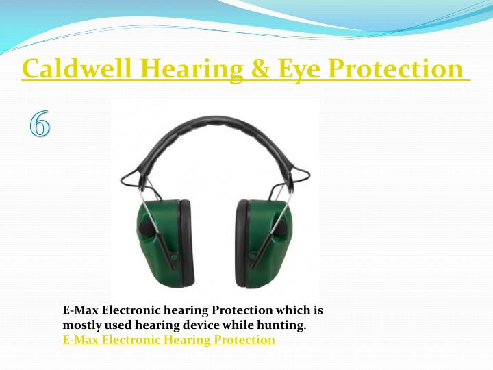Caldwell Hearing & Eye Protection