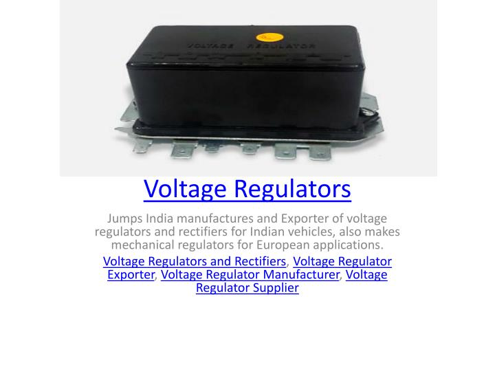 voltage regulators n.