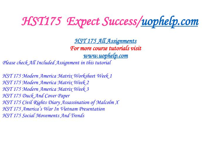 HST175  Expect Success/