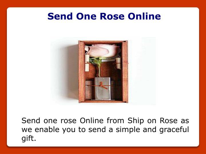 Send One Rose Online