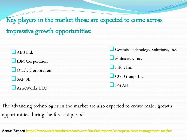 Key players in the market those are expected to come across impressive growth opportunities