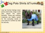 dog polo shirts trunks