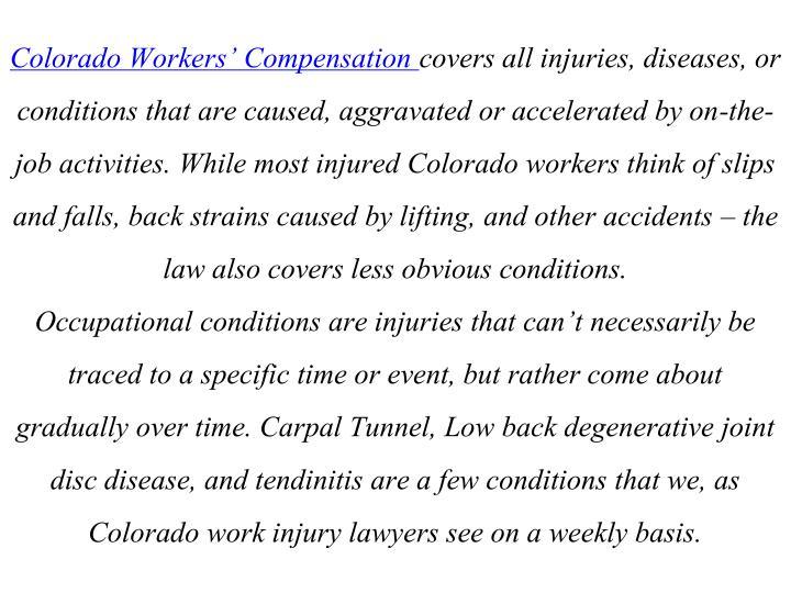 Colorado Workers' Compensation