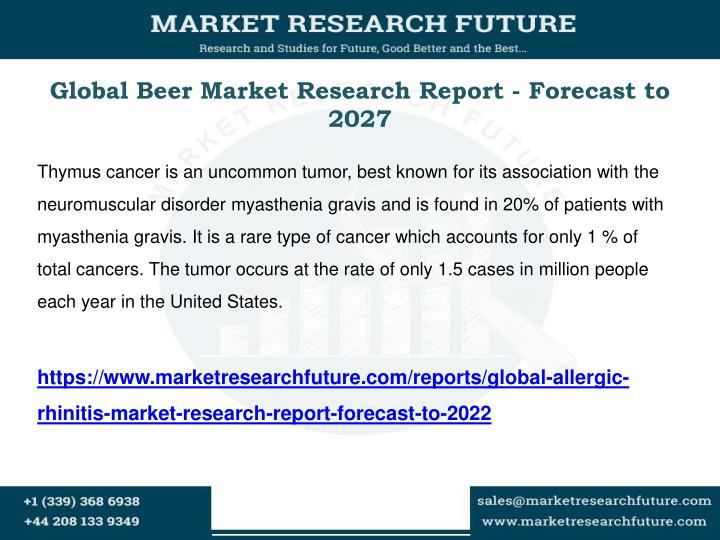 Global beer market research report forecast to 2027