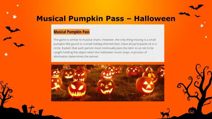 Musical pumpkin pass halloween