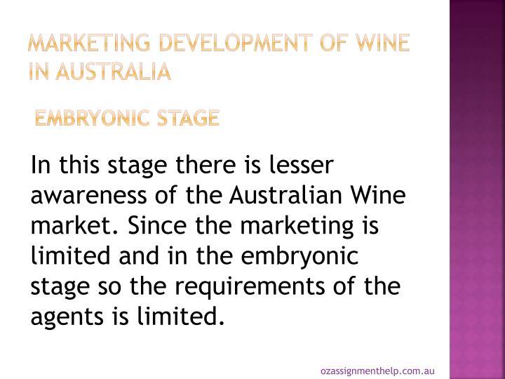 Marketing Development of Wine in Australia