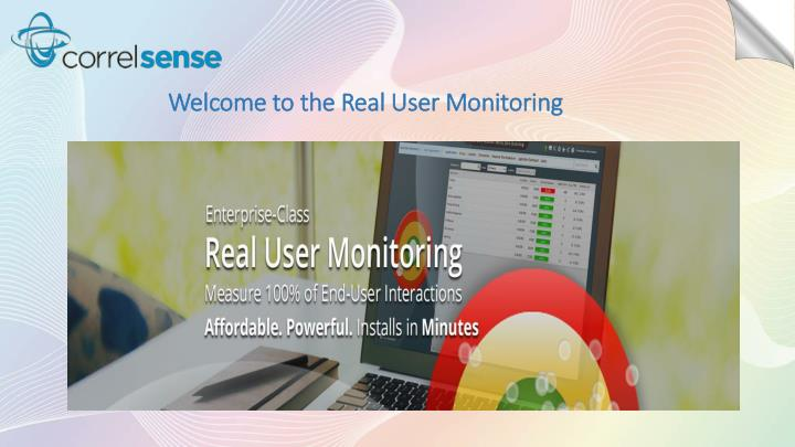 Welcome to the Real User Monitoring