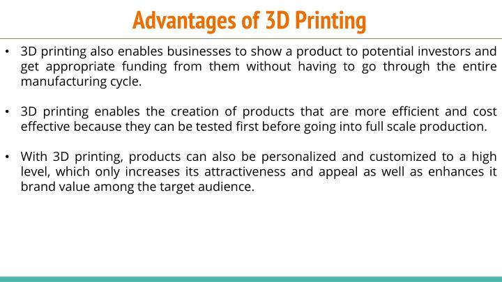 Advantages of 3D