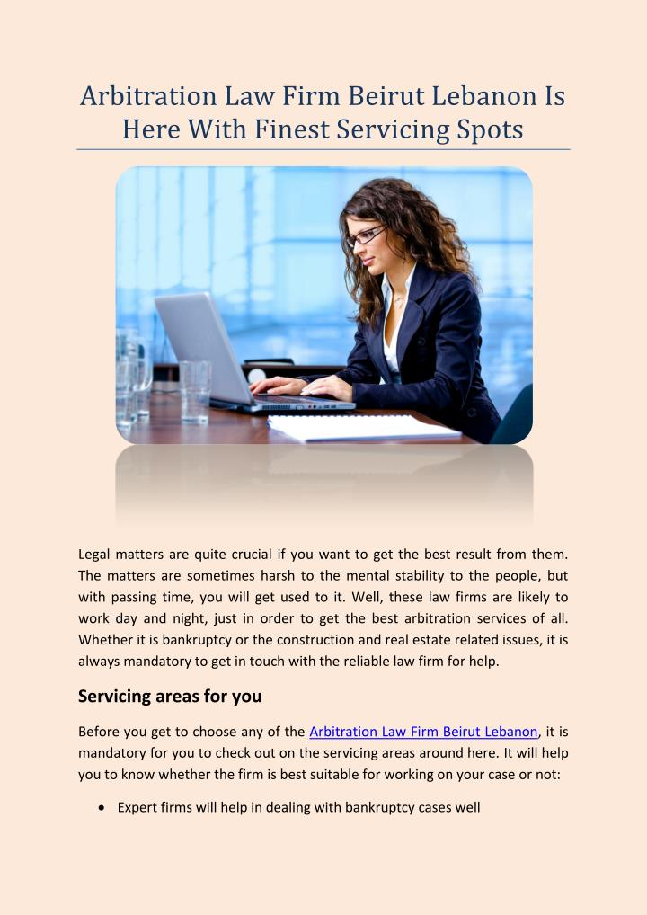 Arbitration Law Firm Beirut Lebanon Is