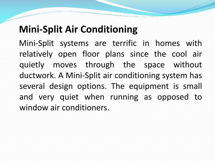 Mini-Split Air Conditioning