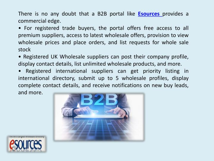 There is no any doubt that a B2B portal like