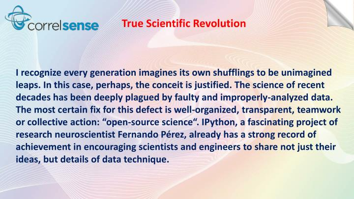 True Scientific Revolution